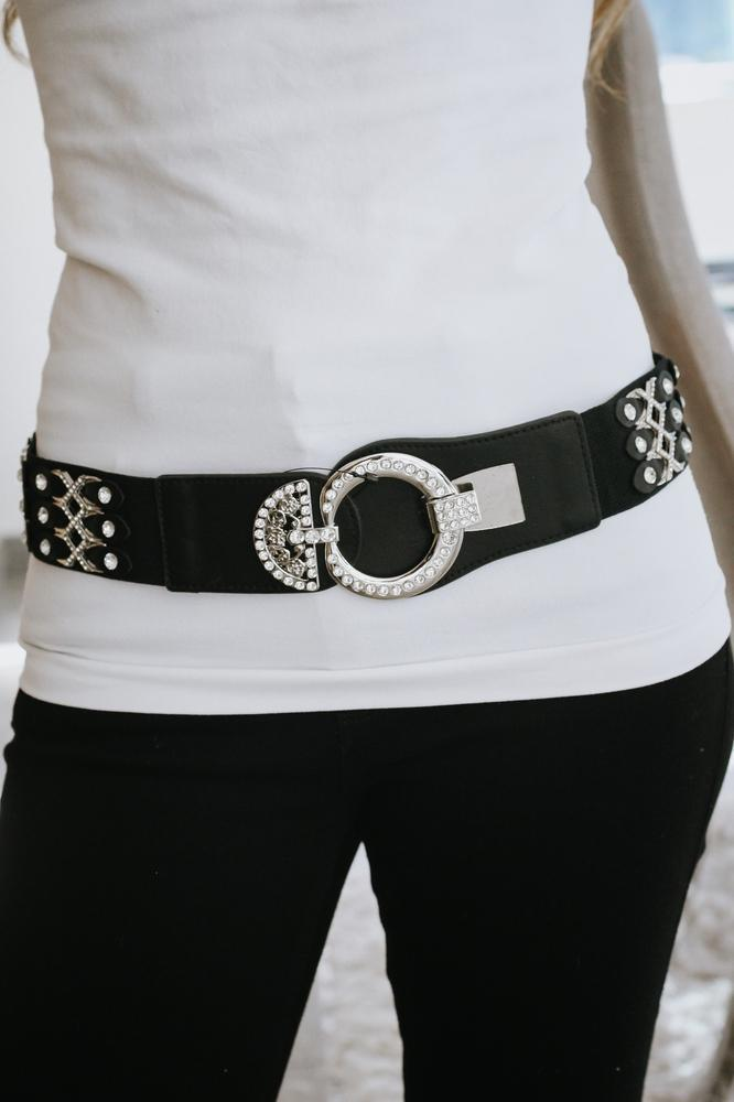 Multi Stone X Stretch Belt