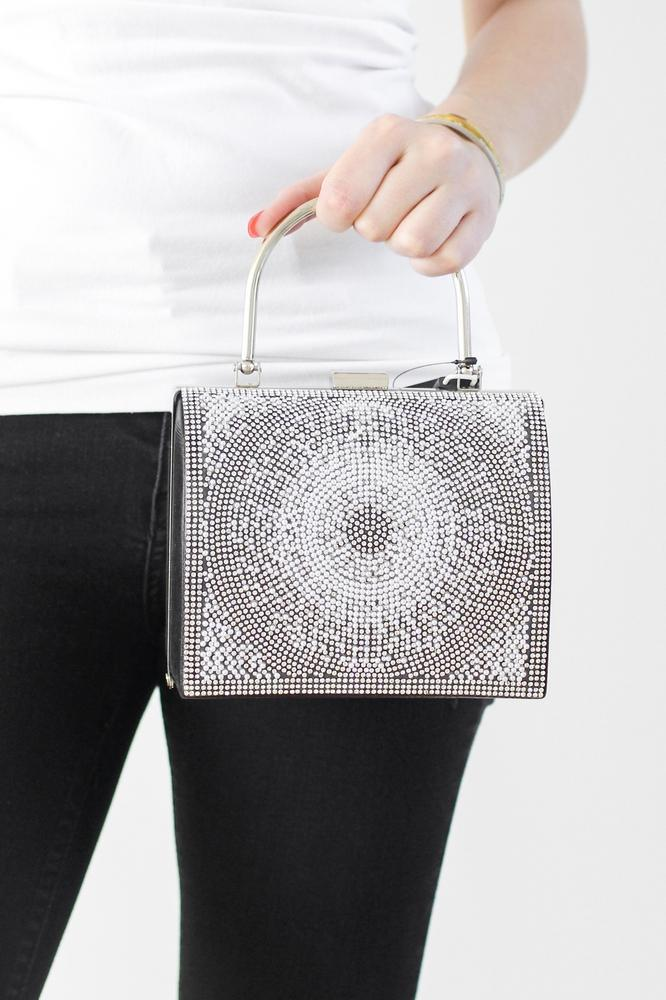 Barrel Shape Sunburst Clutch - Glitz & Ears