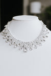 Staggered Teardrop Scoop Neckline Necklace