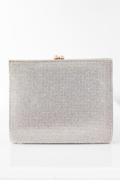 Rhinestone Front & Back Tall Clutch-Glitz & Ears Boutique