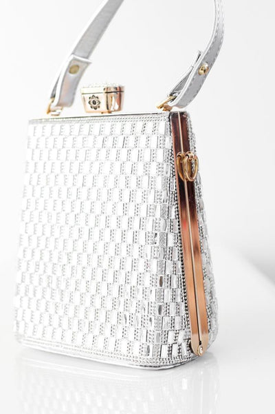 All Baguette Stone Handle Clutch - Glitz & Ears