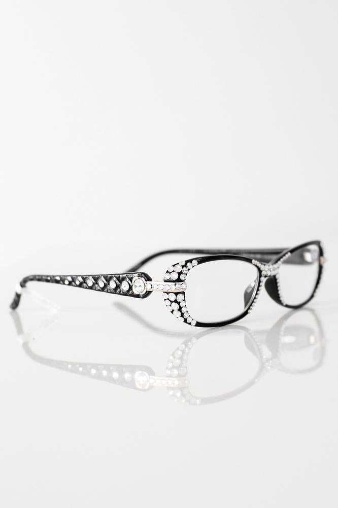 Rhinestone & Quilted Arm Reading Glasses