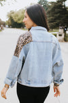 Leopard Print & Denim Jacket
