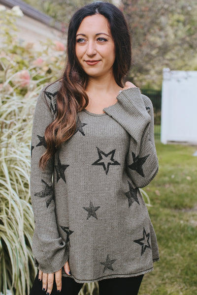 Thermal Long Sleeve with Scattered Stars