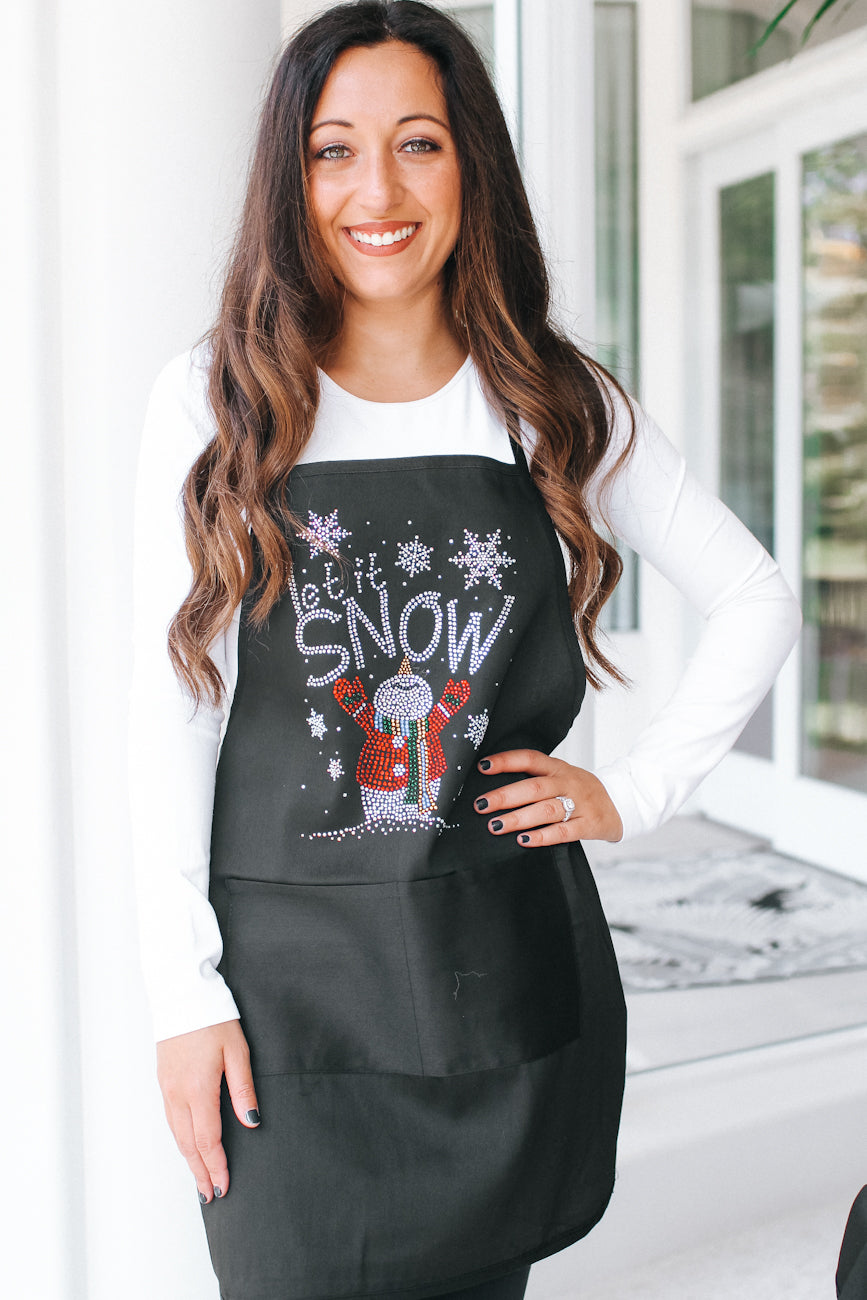 Let It Snow & Snowman Apron