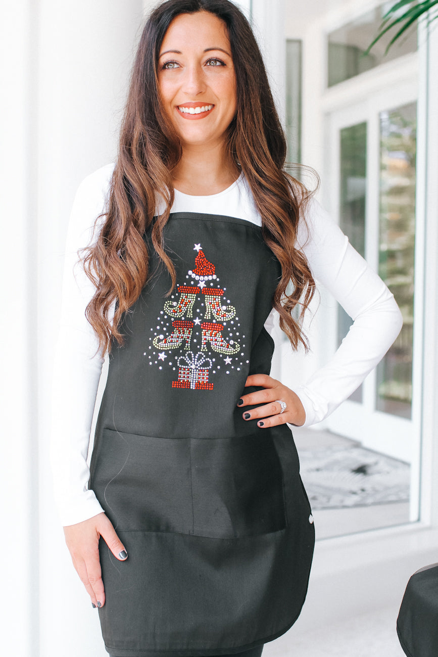 Elf Shoe Christmas Tree Apron