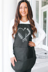 Blow Dryer & Cord Heart Apron