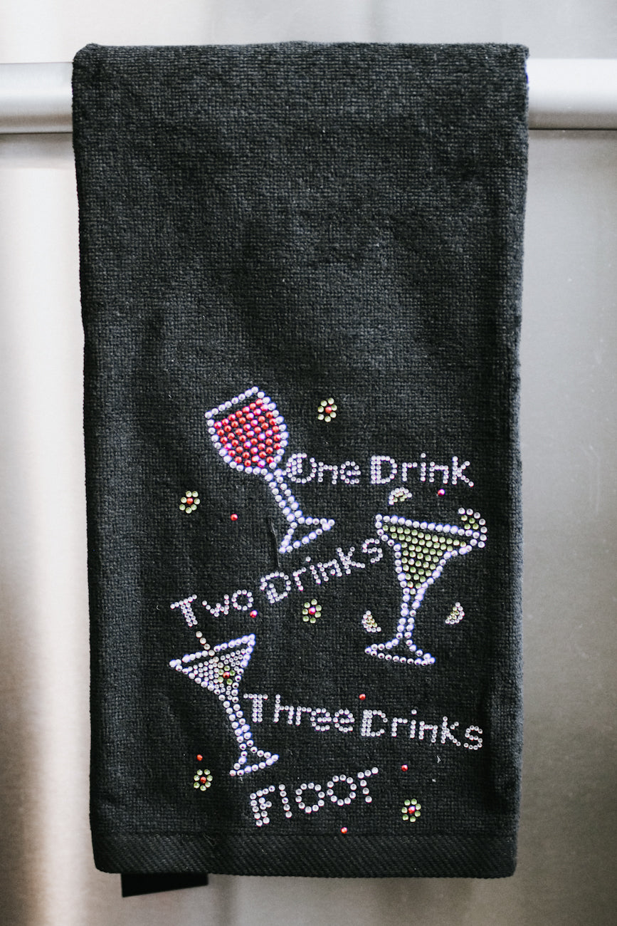 1 Drink, 2 Drink, 3 Drink, Floor Towel
