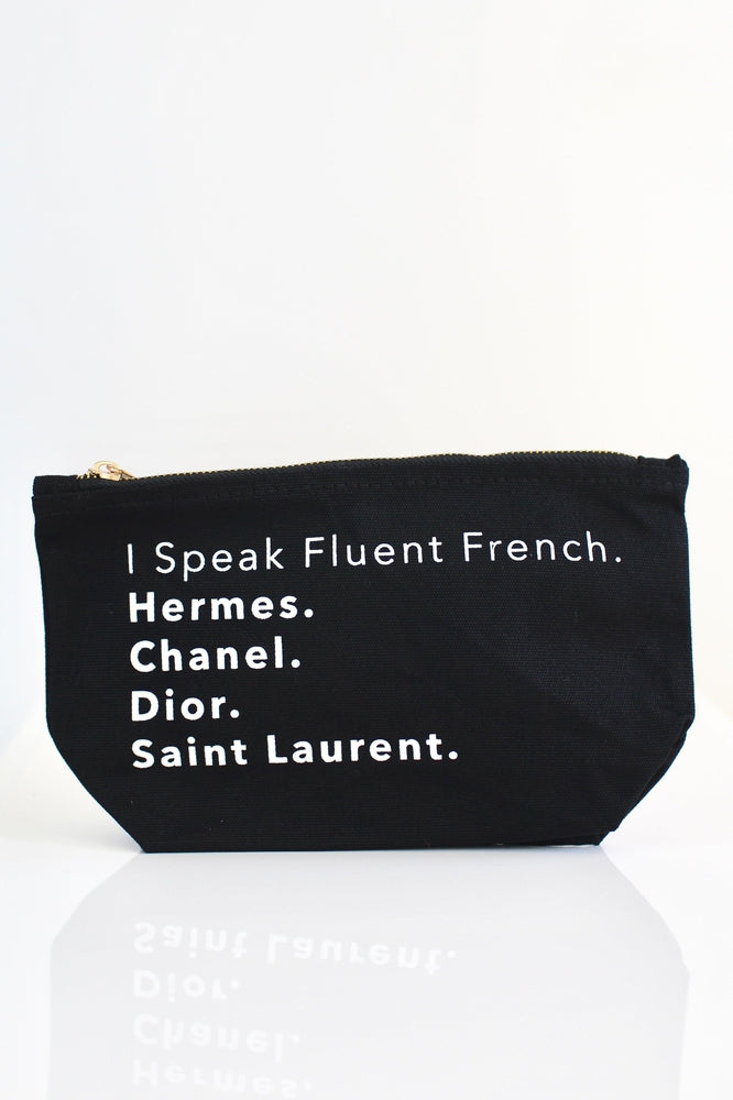 I Speak Fluent French Makeup Bag - Glitz & Ears