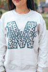 Leopard Michigan Crew Neck Sweater