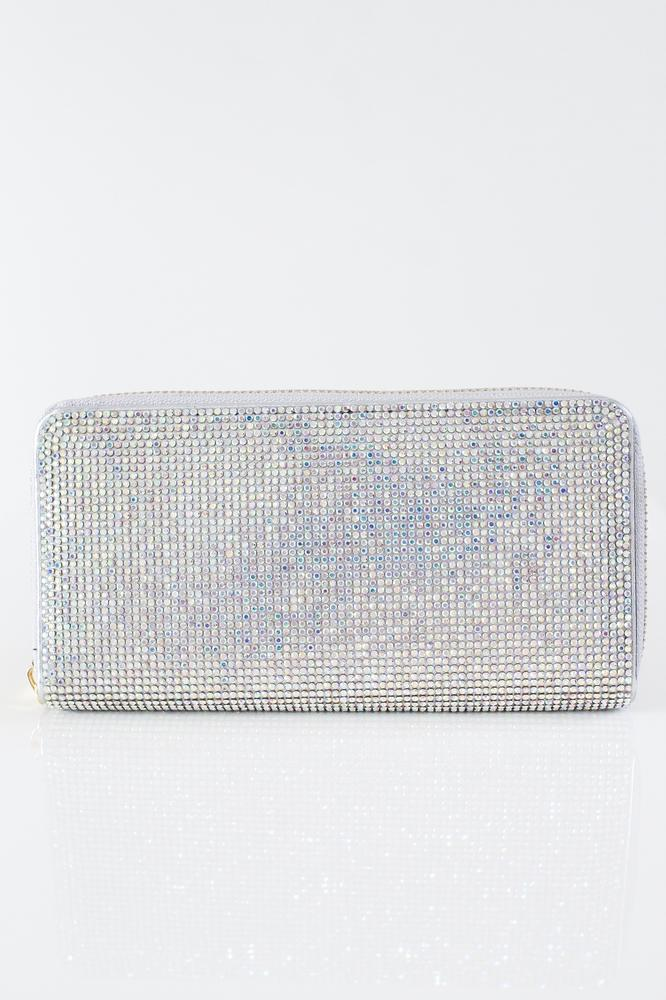 All Rhinestone Front & Back Wallet - Glitz & Ears