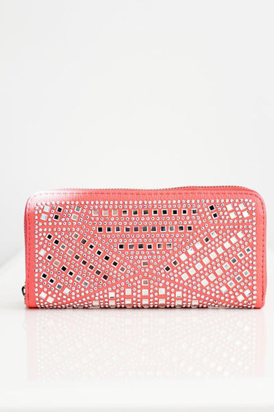 Angled Square Stone Rows Wallet - Glitz & Ears