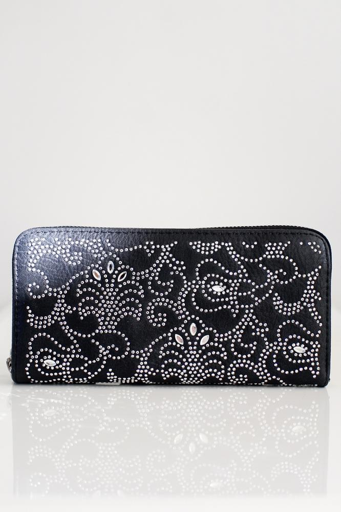 Rhinestone Swirl X-Small Almond Wallet
