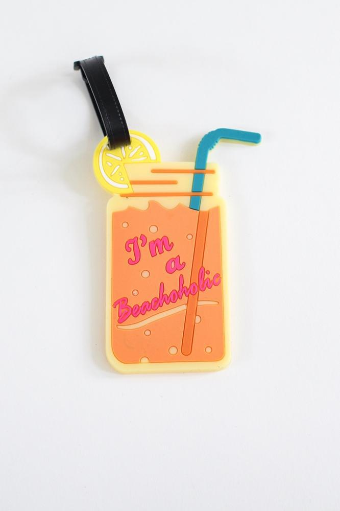 'I'm a Beachoholic' Luggage Tag - Glitz & Ears