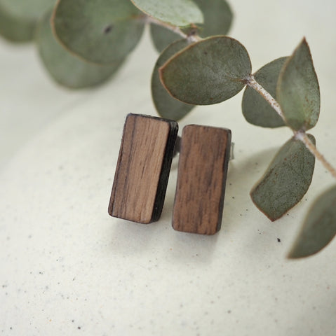 Asgard Peak Earrings - Walnut