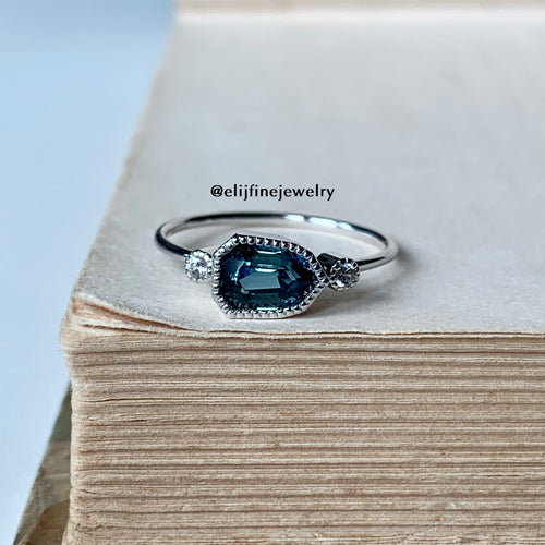 Blue Sapphire Stacking Ring (Series 3)