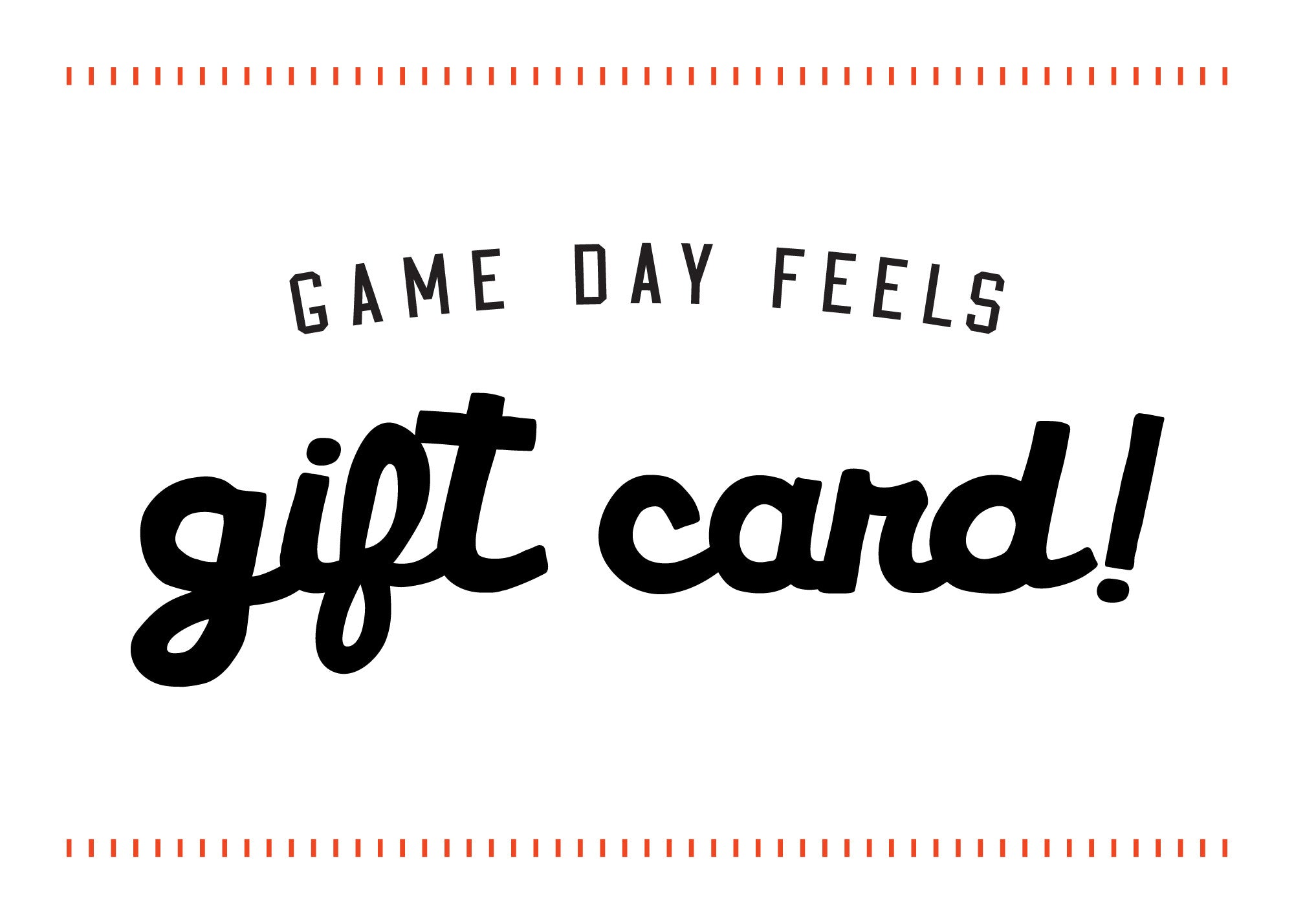 gift card game day feels