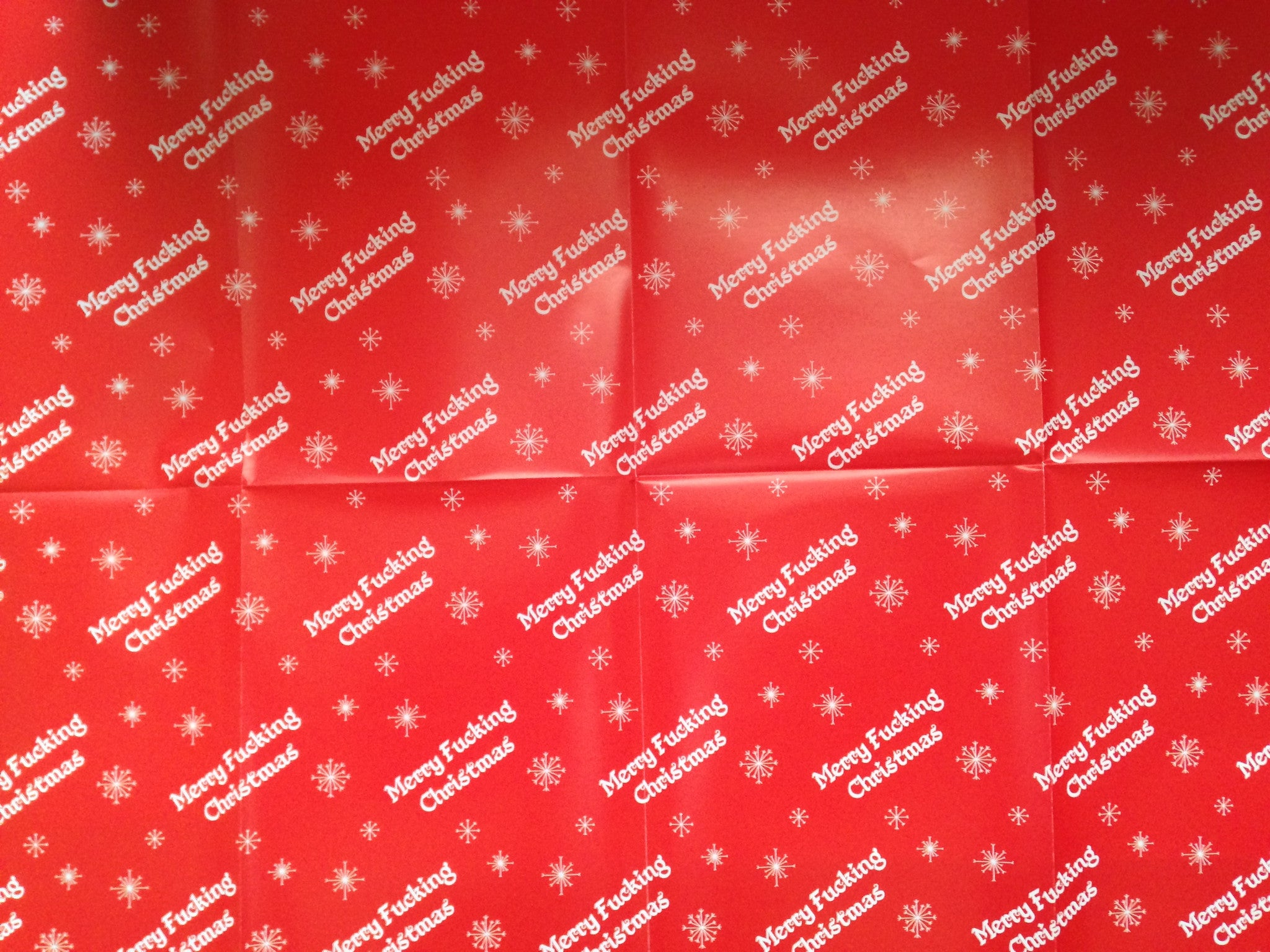 Merry fucking Christmas wrapping paper pack - Phuckadoodledoo