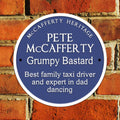 "Personalised UK Heritage 11"" Metal Plaque"