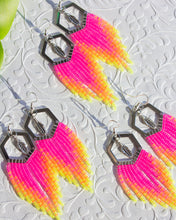 Load image into Gallery viewer, Mini Neon Fringe Earrings