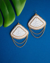Load image into Gallery viewer, Faux Howlite Earrings