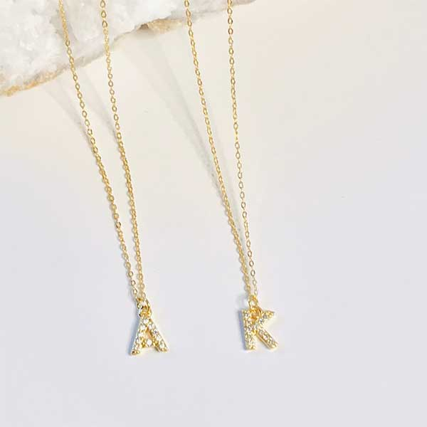 ELLIE Dainty Letter Necklace