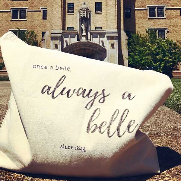 "Saint Mary's College ""Once a Belle"" canvas bag"