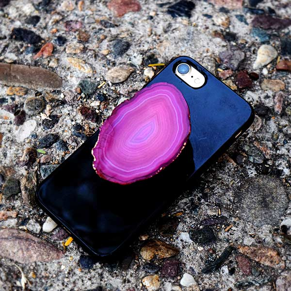 pink-agate-cell-phone-holder-1