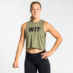 WIT Fitness Tanks WIT Logo Crop Tank