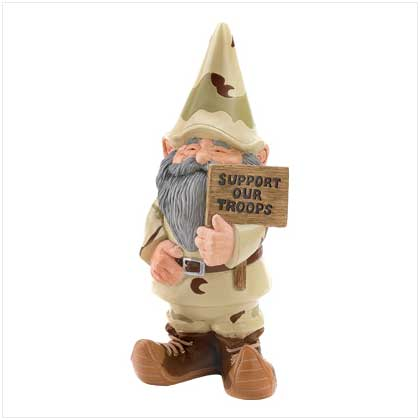 Military Support Our Troops Garden Gnome