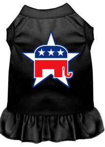 Republican Dog Dress Outfit black