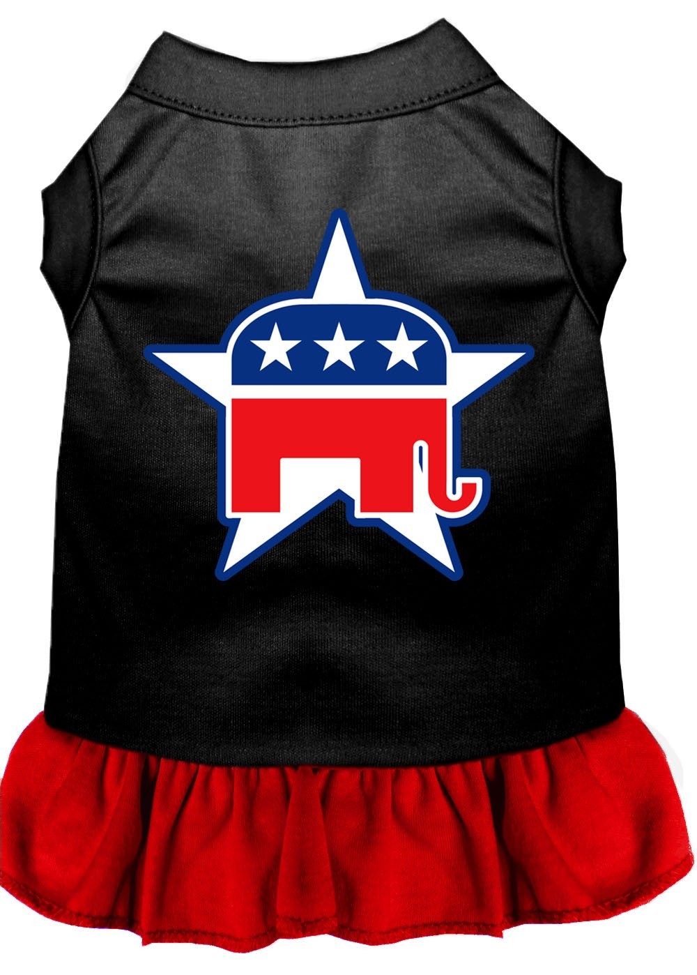 Republican Dog Dress Outfit black and red