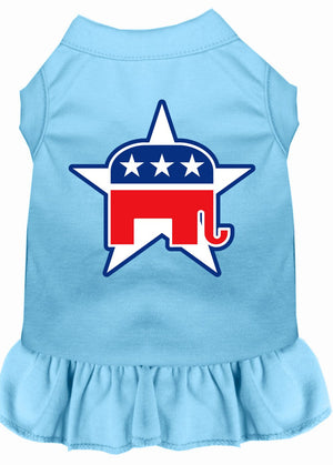 Republican Dog Dress Outfit blue