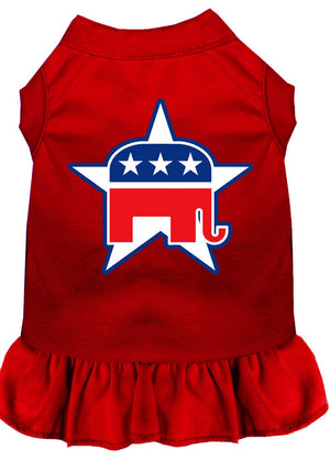 Republican Dog Dress Outfit red