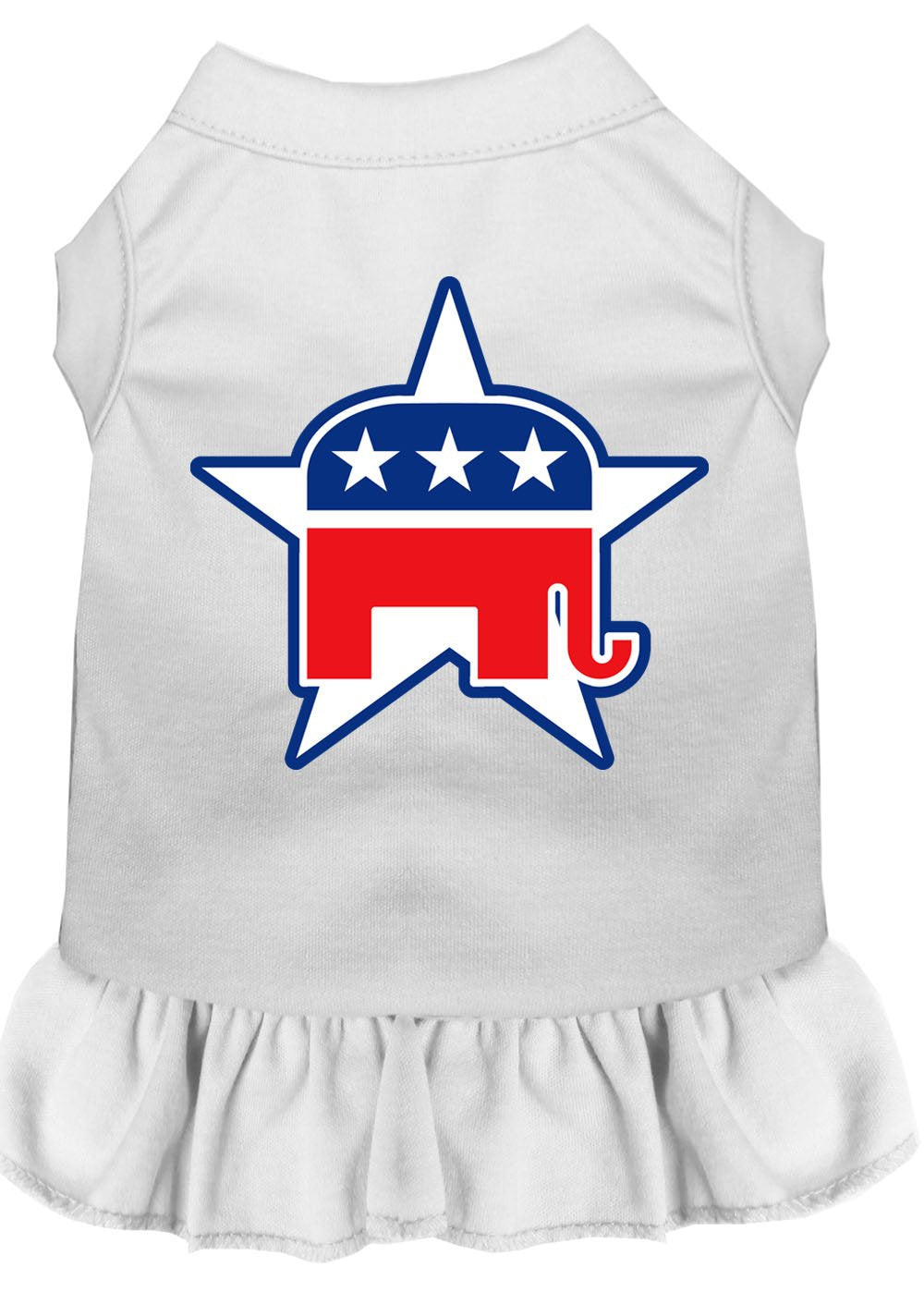 Republican Dog Dress Outfits white
