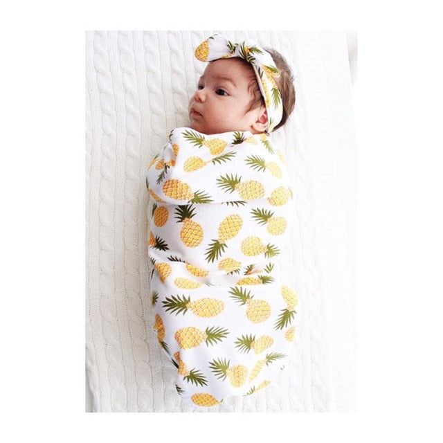 yellow & White | Baby Wrap Swaddling Blanket