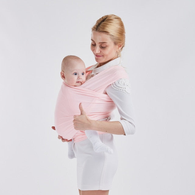 light Pink Soft Baby Wrap Carrier