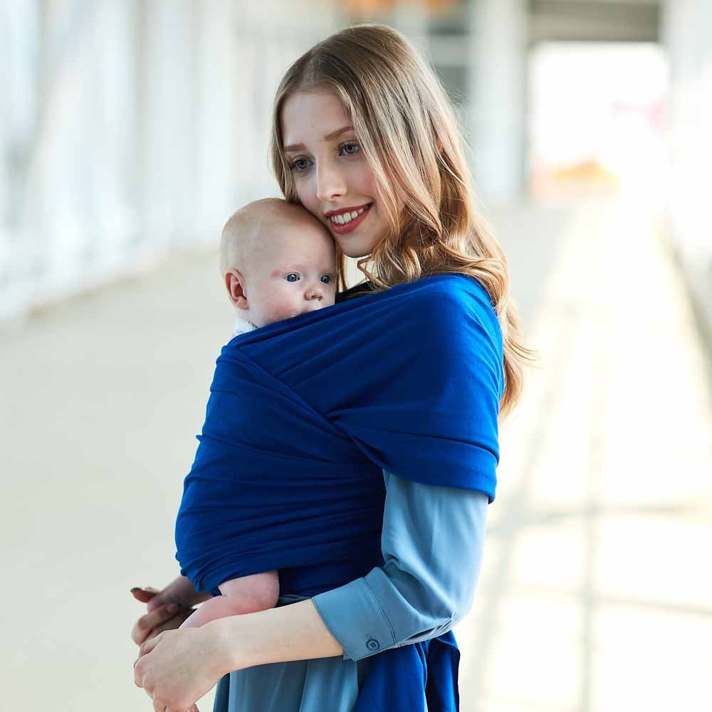 Dark Blue Soft Baby Wrap Carrier