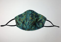 ADJUSTABLE REUSABLE TEAL FACE MASK