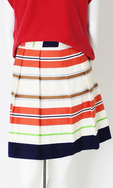 MARY STRIPED PLEATED SKIRT