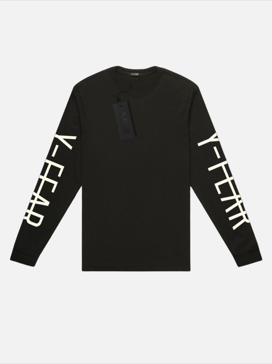 Black Long Sleeve Logo Tee