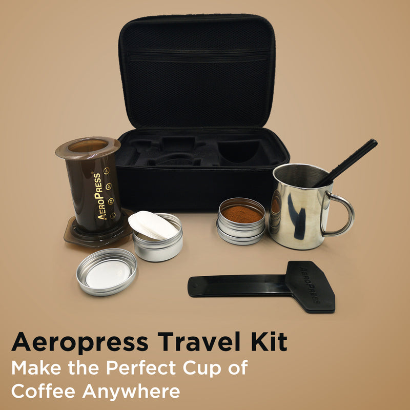 Aeropress Travel kit coffee mug tins