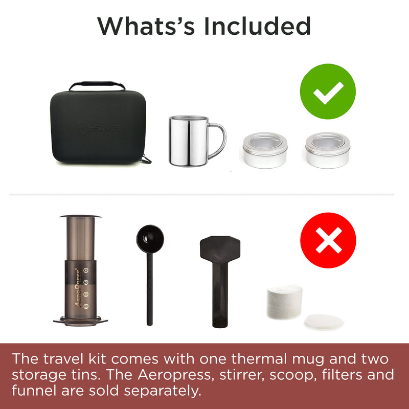 Hexnub Aeropress Case what's included