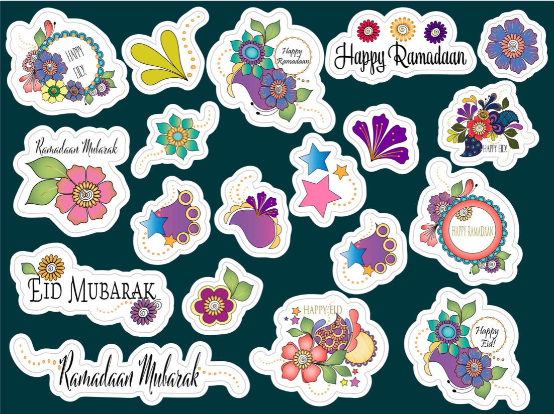 Ramadaan/Eid Henna Sticker Sheet
