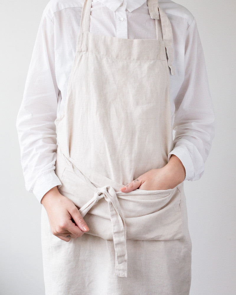 Sunnyside Linen Apron in Natural