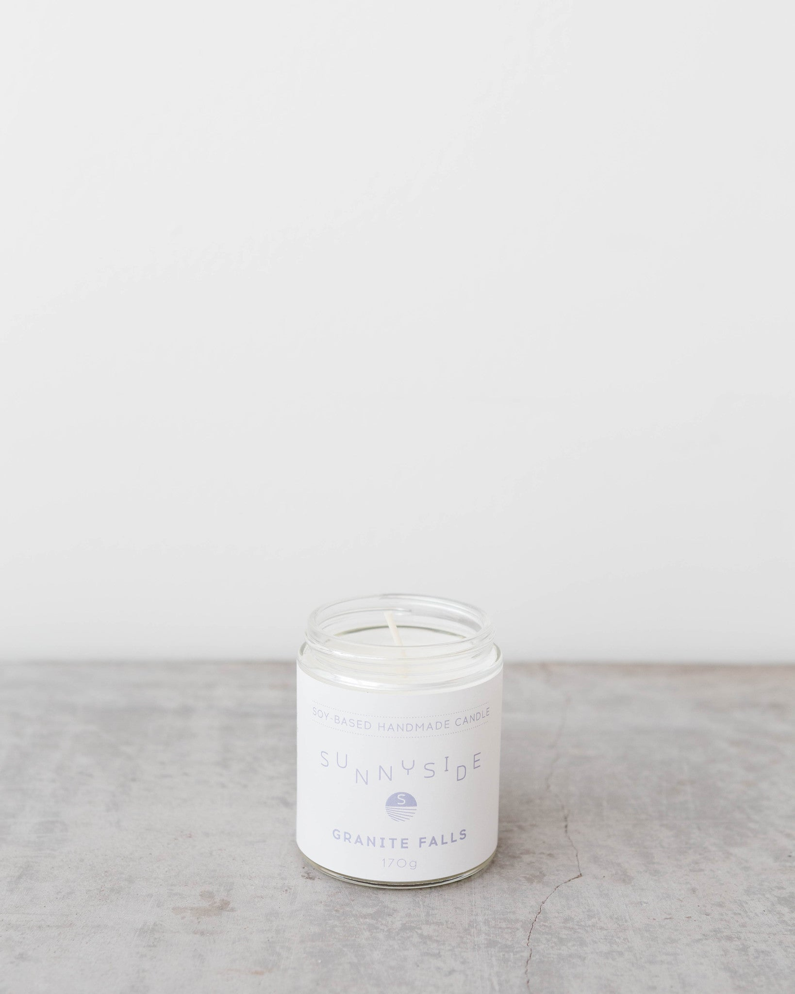 granite falls soy candle by sunnyside deep cove vancouver