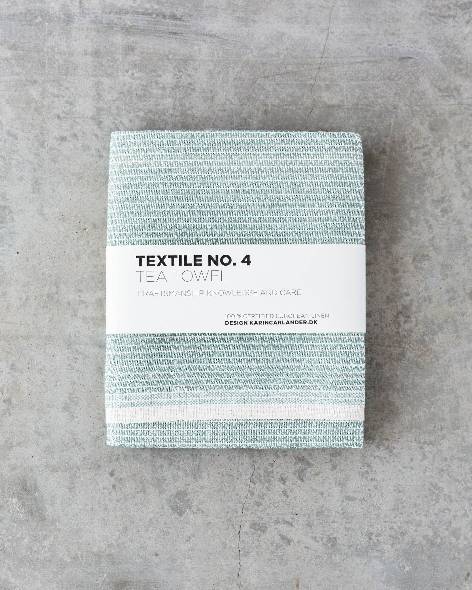 Textile No. 4 Tea Towel in Sashiko Dark Lichen