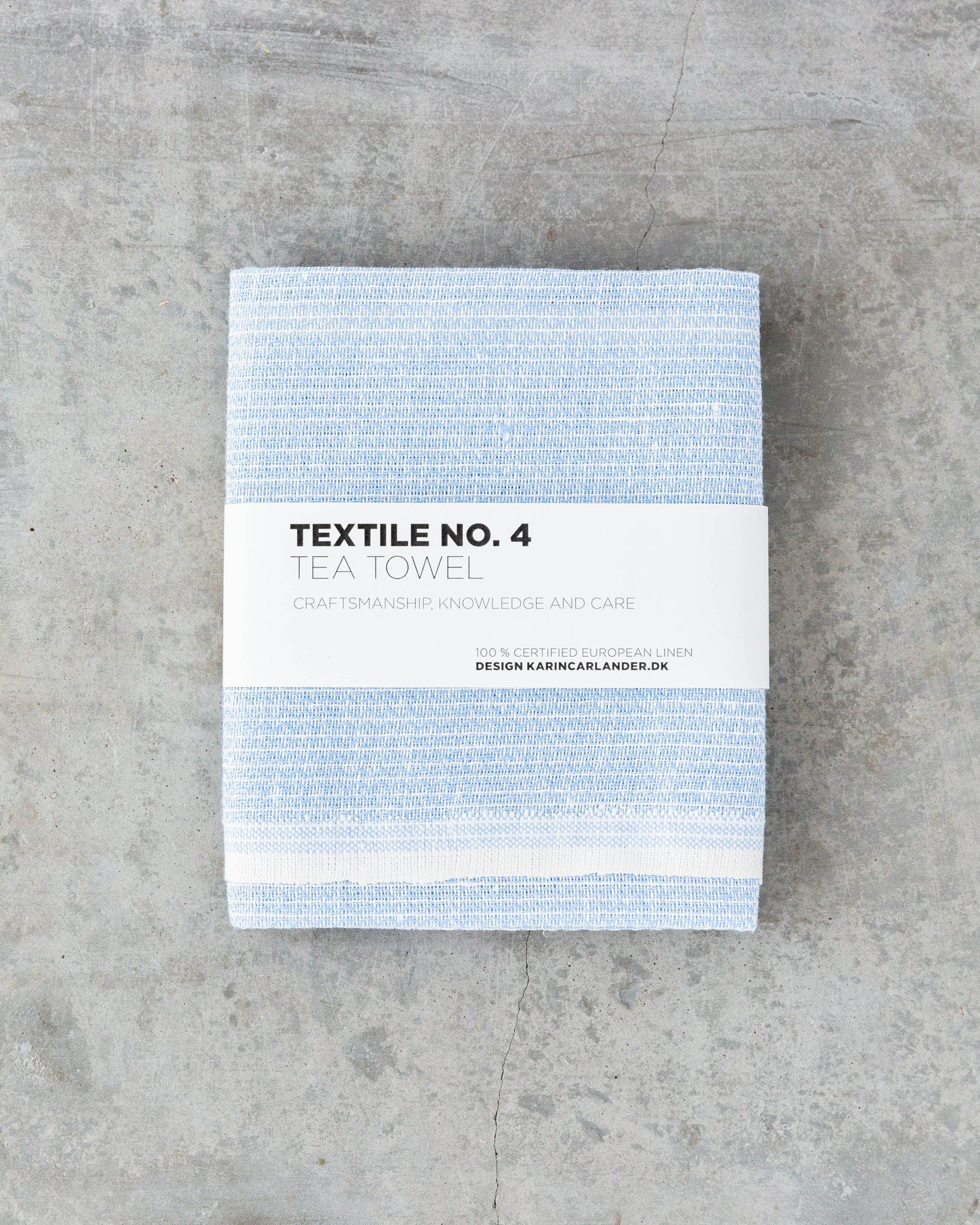 Textile No. 4 Tea Towel Sashiko Light Blue