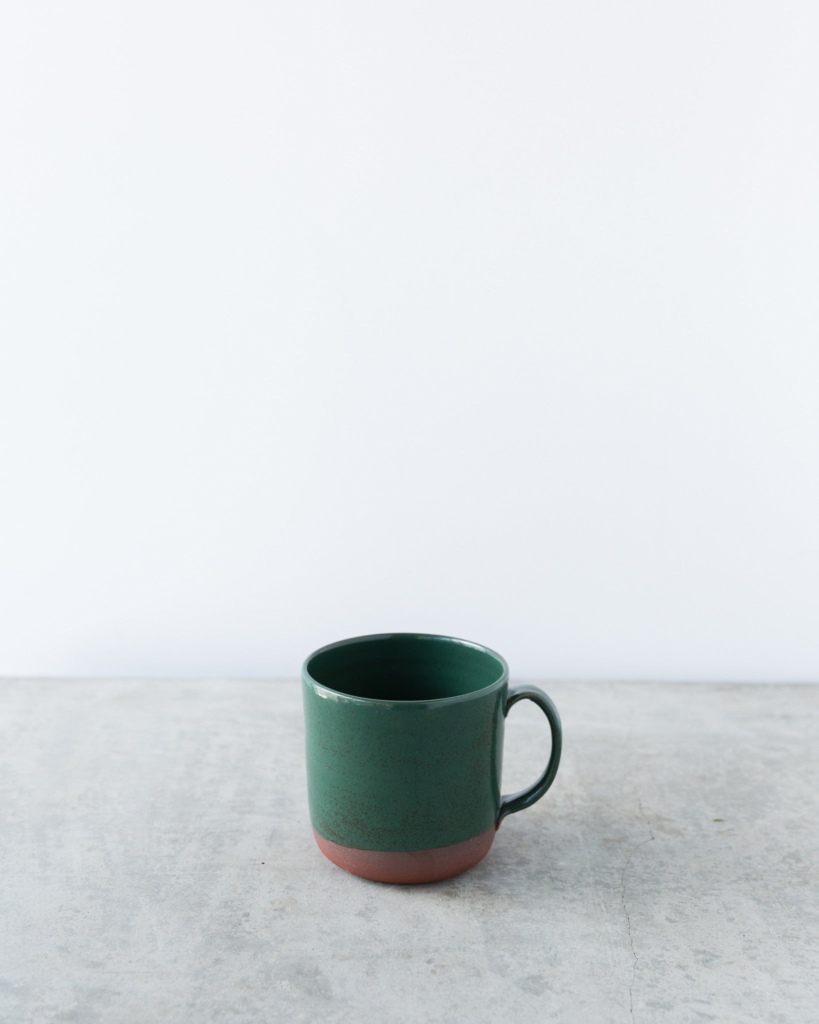 Kalika Bowlby Nest Collection Mug in Deep Green
