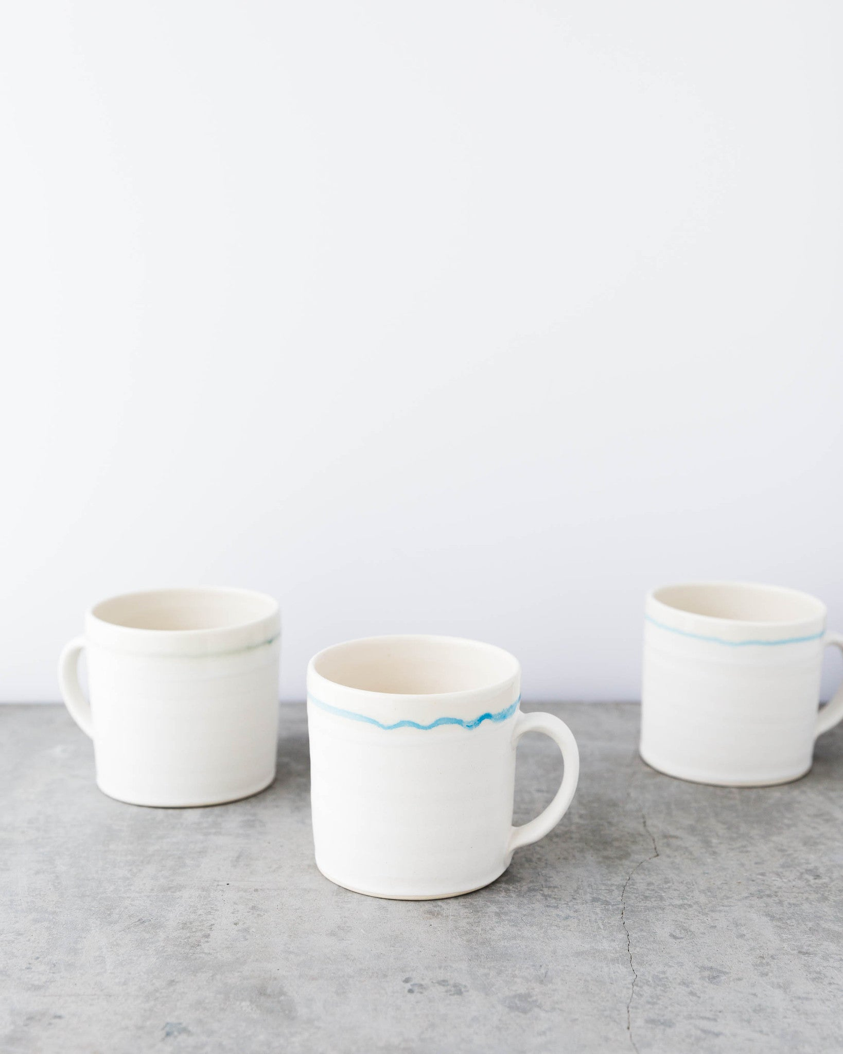 Kalika Bowlby 1920 Mug in Light Blue Stripe